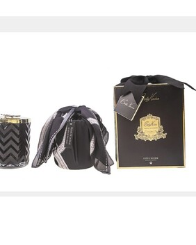Cote Noire - HERRINGBONE CANDLE WITH SCARF - BLACK